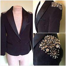 5 6 7 STELLA McCARTNEY Kids custom Velvet Tuxedo Jacket coat vintage crystal gap