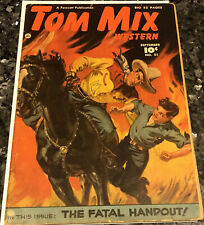 TOM MIX #21 (Fawcett) VG 4.0 golden age comic, Norman Saunders cover