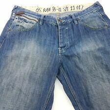 G-Star Raw ELWOOD Mens Jeans W36 L34 Blue Relaxed Loose Fit Straight Mid Rise