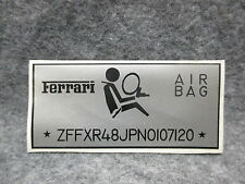 Ferrari 355 Air Bag Sticker Gray & Black OEM NOS 24877