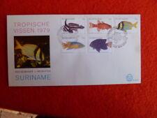 SURINAME   FISH SET OF 5   FDC 30 MAY 1979