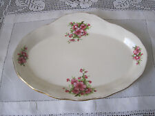 PRETTY GRINDLEY PEACH BLOSSOM TAB HANDLED CAKE PLATE