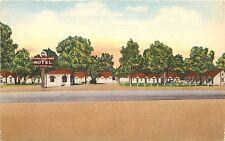 Linen Roadside Postcard; Silver Horse Shoe Motel, Hwy US 70- 79- 64 Memphis TN