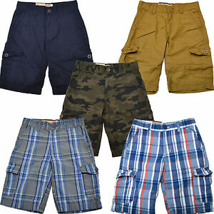 Levis Boys Cargo Shorts Casual Flat Front Bottoms Relaxed Fit Kids S M L XL XXL