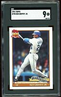 1991 Topps #790 Ken Griffey Jr SGC Graded 9 = PSA 9? MINT 3rd Year Card