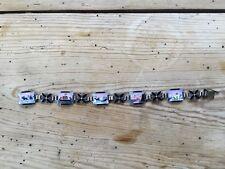 Norwegian Sterling Silver Scenic Enamel Bracelet - Aksel Holmsen / Norne Norway