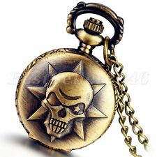 Vintage Covered Pocket Watch Pendant Necklace With Anime Cross Fire Kito Design