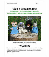 """Wedding knitting pattern for Sylvanian Families, wedding decor and favours, 3.5"""""""