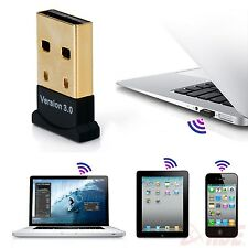 USB Wireless Bluetooth V3.0 Dongle Adapter for Laptop PC Win7 Vista XP Notebook
