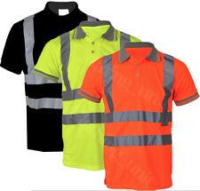 Hi Vis High Viz Visibility Short Sleeve Safety Work Polo T Shirt EN471 S-5XL