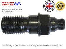 "Converting Adaptor for Diamond Core Drilling 1 1/4"" Unc Male to 1/2"" Bsp Male"
