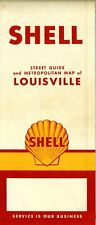 1959 Shell Road Map: Louisville NOS
