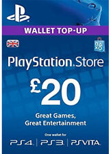 UK £20 GBP PLAYSTATION NETWORK Prepaid Card Key PSN PS3 PS4 PSP