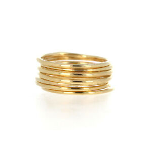 Smooth Gold Stacker, 14k Gold Filled, Thin Round Gold, Stackable Ring, 1mm band