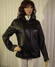 SONOMA JEAN CO Black Lambskin zipper jacket, SZ S, excellent condition $39.95 NR