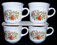CORNING WARE CORELLE INDIA SUMMER Fall Flowers COFFEE TEA CUP MUG Orange PYREX