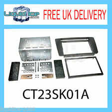 CT23SK01A SKODA OCTAVIA 2004 - 2008 BLACK DOUBLE DIN FASCIA FACIA ADAPTOR KIT