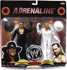 WWE_SHAWN MICHAELS in White Attire_UNDERTAKER in Black Attire_ADRENALINE #39_MIP