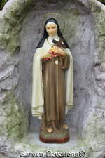 St. Theresa the Little Flower 17 inch Statue Plaster Chalkware Import Handmade