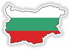 Bulgaria Bulgarian Map Flag Sticker for Bumper Helmet Truck Door Laptop Guitar