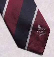 TOR RFC GLASTONBURY 1954-2014 TIE NAVY BURGUNDY SILVER RUGBY FOOTBALL SILK