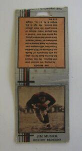 Old Vintage 1930's Jim Musick - BOSTON REDSKINS FOOTBALL - MATCHCOVER - Bobtail