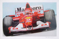 Michael Schumacher Ferrari F1 Limited Edition - Formula 1 Artists Print Poster