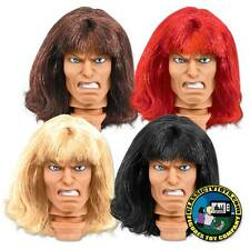 Set of 4 Warrior Male Rooted Hair Roto Molded Heads for 8 inch Mego figures