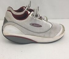MBT Fora 400212-16 SWISS ENGINEERED Womens Silver Maroon Toning Shoes Sz 7