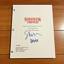 "SHANNON PURSER SIGNED STRANGER THINGS PILOT SCRIPT w CHARACTER NAME ""BARB"" PROOF"