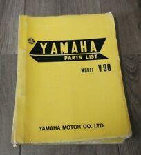 YAMAHA V90 PARTS LIST 1ST EDITION MAY 1971