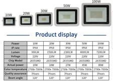FOCO PROYECTOR LED SMD 10W -  220 V - Exterior Focos Luz -ENVIO 48H-