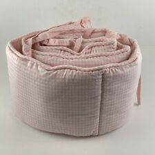 Pottery Barn Kids Pink White Gingham Cradle Doll Crib Bassinet Bumper