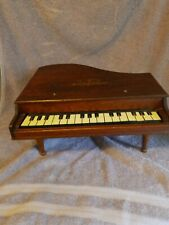 Vintage Baby Grand Piano Wooden Childs Toy With Legs,10 Working Keys
