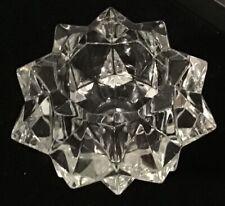Avon Candle Holder - No. 27 - Diamond Starburst Clear Glass - Votive / Tea Light