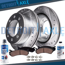 Front DRILL Brake Rotors + Ceramic Pads 2000 2001 - 2004 Ford F-250 F-350 SD 4WD