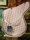 toklat shaped all purpose light pink with black pipping quilted saddle pad