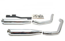 New Vance and Hines Harley Softail Dual Stagger Slash Cut Exhaust System V16300