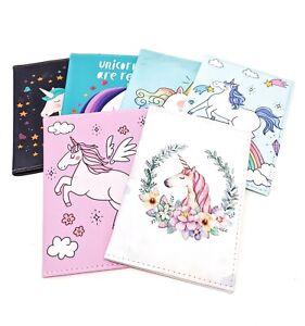Unicorn Passport Holder Cover Travel Documents Girls Women's UK Seller