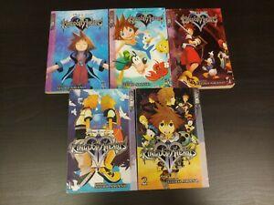 Kingdom Hearts Manga Book Lot of 5 TokyoPop Books Shiro Amano Disney