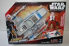 STAR WARS THE FORCE AWAKENS HERO MASHERS RESISTANCE X-WING FIGHTER & PILOT NEW
