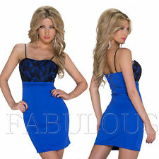 New Sexy European Padded Lace Mini Dress Clubbing Party Evening Wear Size 10 M