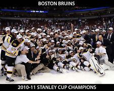 2010 2011 STANLEY CUP CHAMPIONS BOSTON BRUINS 8X10 TEAM PHOTO HOCKEY