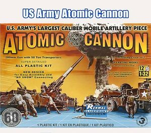 discontinued revell 7811 1/32 Atomic Cannon Plastic Model Kit Atomic Annie new