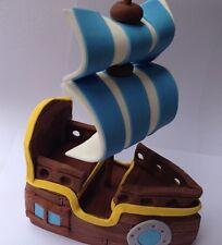 LARGE edible 3D PIRATE SHIP BOAT CAKE DECORATION TOPPER jake neverland TREASURE