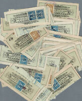 1923-25 Alymer Ont. Molson's Bank Check Ends, Excise Stamps and Local Autographs