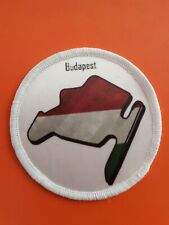 Budapest Grand Prix  sublimation style iron or sew on 3 inch patch badge F1