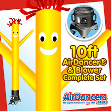 Yellow AirDancer® & Blower Set 10ft Inflatable Tube Man Air Dancer