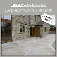 Indian Sandstone Patio Paving Natural Slabs SAMPLE PACK Try before you buy