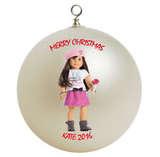 Personalized American Girl Grace Christmas Ornament